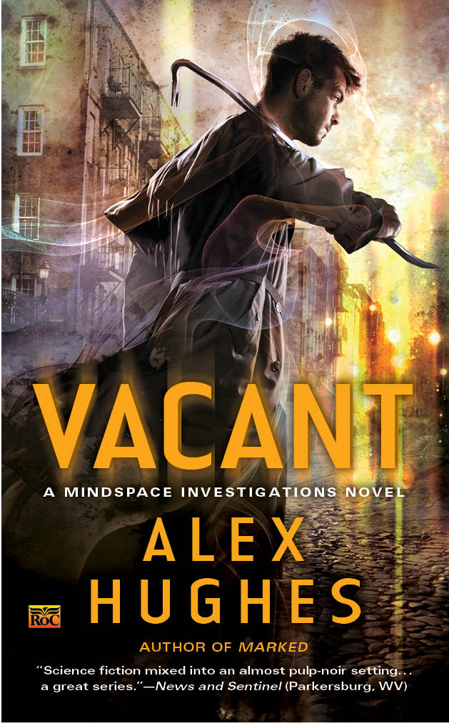 Front cover of book entitled Vacant by Alex Hughes
